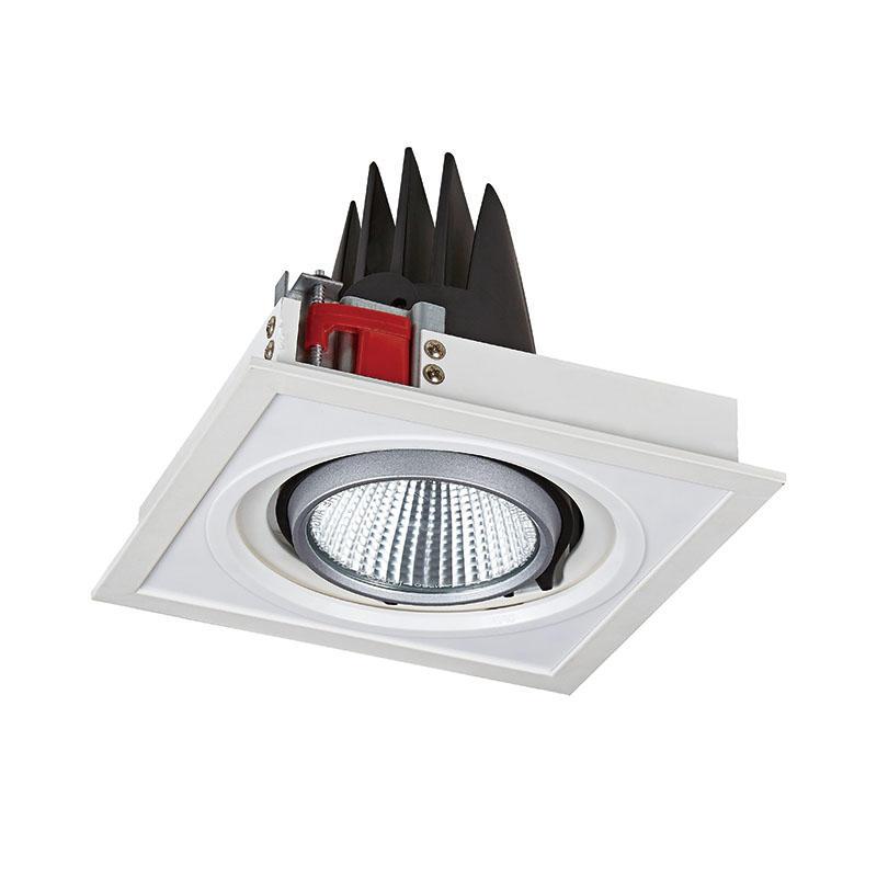Pro.Lighting Square Recessed Light Grille Spot Light 30W With Single Head SPL4030-1