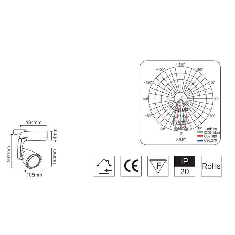 Oem Cob Track Light & 30w led track light Manufacturer