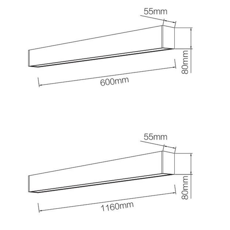 Pro.Lighitng Linear Light Led Pendant Light Surface Mounted 1.2M 36W or 0.6M 18W LN1801