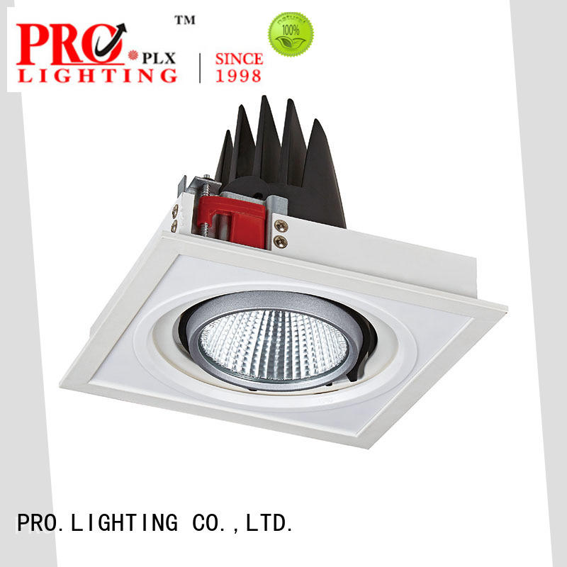 PRO.Lighting recessed square grille light design for stage