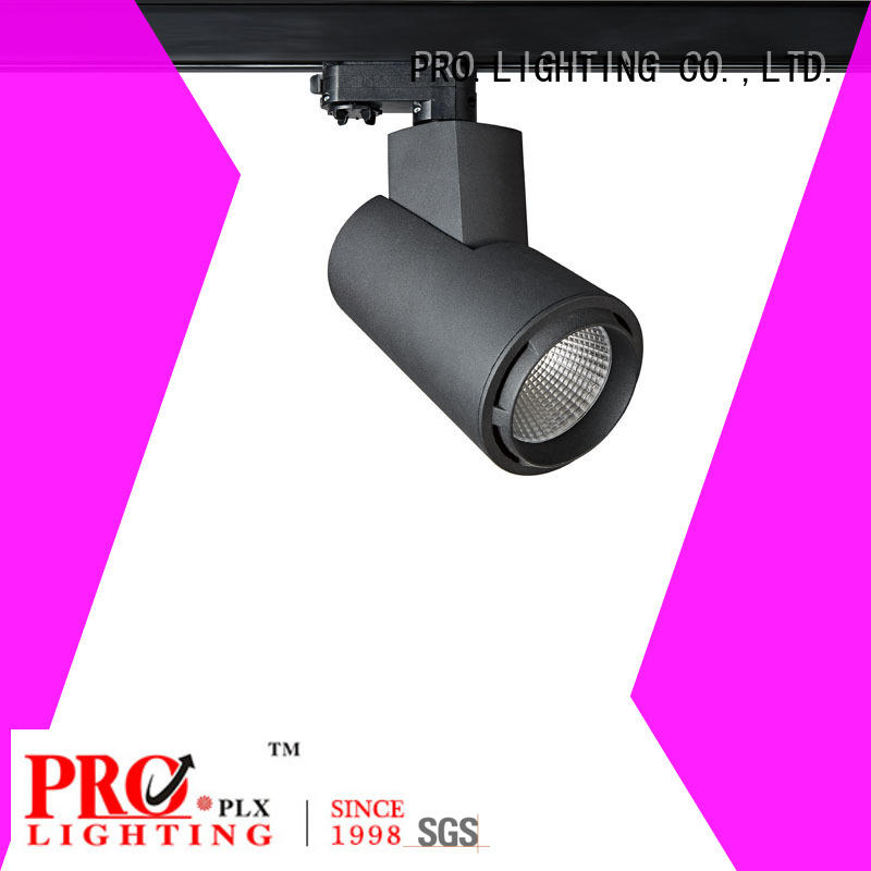 Pro.Lighting Unique Newly Designed High Luminous Cob Led Track Light with 3 Phase Adaptor Black&White 30W SP8035